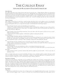 cover letter template for example of a college application essay  gallery of example essays for college applications