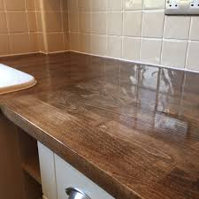 gloss kitchen worktops finishing oak tops oak worktop restoration gloss finish thumb img   orig oak worktop rest