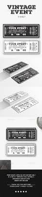 best ideas about ticket template my pics vintage event ticket