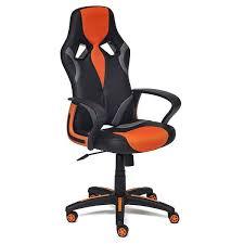 Игровое <b>кресло TetChair Runner</b>, оранжевый/черный купить ...