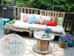 diy pallet patio furniture. a summer essential for the patio or deck an outdoor pallet sofa easy to diy furniture