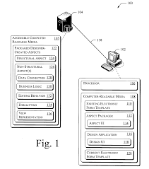 patent us7725834 designer created aspect for an electronic form patent drawing