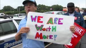 workers tag pbs newshour as fast food workers protest low pay some argue wage increases would kill jobs
