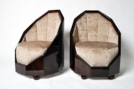 pair of art deco style cocoon chairs furniture art deco furniture style art