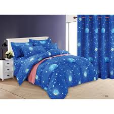 4in1 Poly <b>Cotton</b> OUTER <b>SPACE</b> 2019 Design(2 pcs pillow case ...