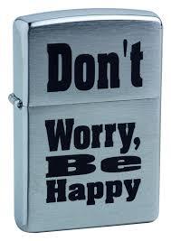 <b>Зажигалка бензиновая Don`t Worry</b> (серебристая) от Zippo купить ...