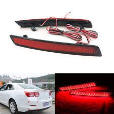2x LED Car Styling Red <b>Rear Bumper Reflector</b> Light Fog Parking ...