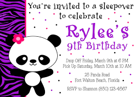 panda birthday party x invitation girl printable panda birthday party 5x7 invitation girl printable 128270zoom
