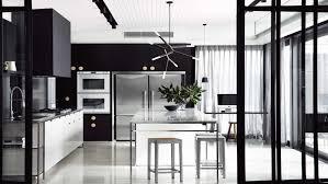 black white kitchen http