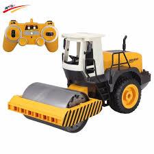 RC Truck <b>2.4G Remote</b> Control Road Roller Drum <b>Vibrate</b> 2 Rubber ...