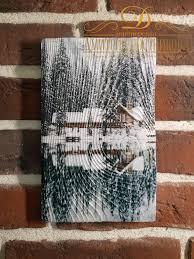 "<b>Картина на дереве</b> ""<b>Дом</b> Вашей мечты"", ручная работа, 16x25 ..."
