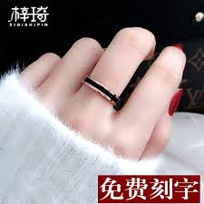 <b>Korean version Titanium Steel</b> index finger ring female tide man tail ...