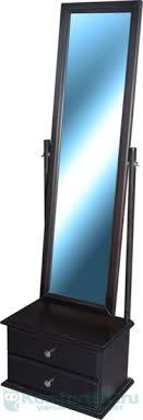 Купить зеркало для спальни <b>Мебелик Селена венге</b> с тумбой в г ...