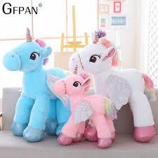 <b>1PC</b> 90CM 2018 <b>New High Quality</b> Unicorn Stuffed Animals Soft ...