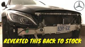 HOW TO REMOVE <b>W205 GRILLE</b>! - YouTube