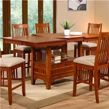 dining room pub style sets: holland house brown mission dining pub table