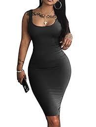 LAGSHIAN <b>Women's Sexy</b> Bodycon Tank Dress Sleeveless <b>Basic</b>