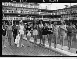 swimming in luxury an iconic pool is reborn in paris the verge women pose during a nautical themed gala one of many that piscine molitor would host over the years bibliothegraveque nationale de 1932