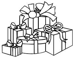 present coloring pages christmas presents