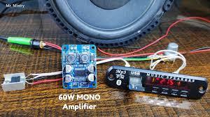 Usb Bluetooth 60W <b>Amplifier</b> Using <b>TPA3118</b> Mono Digital Board ...