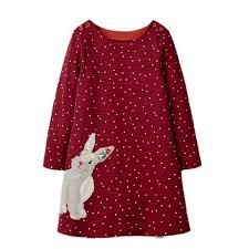 Online Shop <b>VIDMID</b> baby Girls Dress Applique <b>Long Sleeve</b> cotton ...