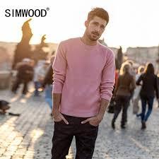SIMWOOD New Brand Wool <b>Sweater</b> Men <b>2019 Autumn Winter</b> ...