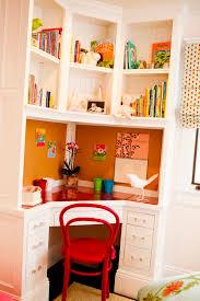 furniture cozy desk plus floating shelfs and cute drawer closed red chair as decorating corners beautiful corner desks furniture