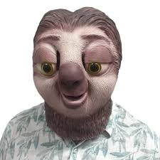 New nature Sloth Latex Mask breathable animal full face head mask ...