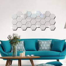 Willstar <b>48</b>-<b>Pc</b> Acrylic <b>Mirror</b> Effect Tile Wall Sticker-Room Decor ...