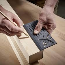 <b>Woodworking</b> 3D <b>45/90 Degree</b> Square Size Measure <b>Carpenter's</b> ...