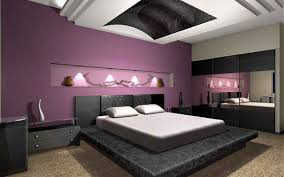 This Is A Living Dashing Room Embracing Many Different Shades Of Colors One Sky Blue Wall Shelters Purple Sofa Another Sand Colored