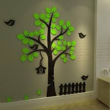 Small Picture Aliexpresscom Buy Fence tree DIY 3d crystal acrylic three