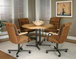 casual dining chairs with casters: cramco inc landon dining arm chair with casters wayside furniture dining chair with casters
