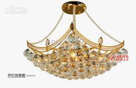 free shipping golden luxury crystal lamp chandelier lights bedroom living room dining room lighting fixture size d400mm h450mm bedroom chandelier lighting