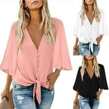 2020 <b>Women Chiffon</b> Blouse Shirt <b>Fashion</b> Sexy BatwingSleeve ...