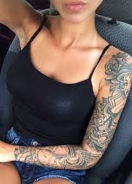 cute and cool girls with sleeve tattoos ko tecom by evatornado bedroom cool cool ideas cool girl tattoos