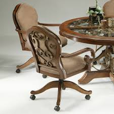 Dining Room Chairs With Arms And Casters Swivel Tilt Dining Chairs On Casters Caster Dining Chair And Table