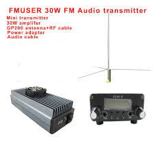 Fmuser FU 30A FM Transmitter Radio statopm 30W amplifier with ...