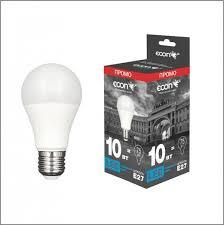 <b>Лампа светодиодная ECON</b> LED A 10Вт E27 4200K A60 L - купить ...