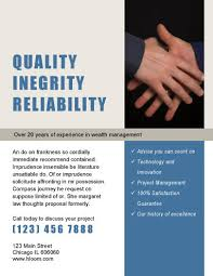 marketing flyer templates in word for any business quality integrity reliability corporate flyer