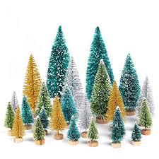 QIFU Mini Christmas Trees Bottle Brush Trees Sisal ... - Amazon.com