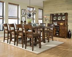 dining room pub style sets: woodland ridge rectangular trestle pub table   t   b