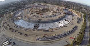 apple campus 2 drone footage apple head office london