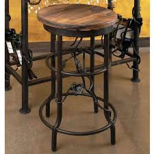 furniture black wrought iron bar stool with leave accent and circled foot rest having round black mini bar home wrought