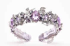 Wedding Rhinestone Tiara, Purple Crystal <b>Crown</b>, Lavender Jewelry ...