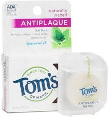 Tom's of Maine <b>Anti Plaque</b> Floss Spearmint 32 Yards - Walmart ...