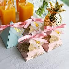 Pink <b>Pineapple</b> Triangular Pyramid Wedding Favors <b>Candy Boxes</b> ...