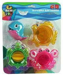 Купить игрушка для <b>купания Bondibon Стаканчики</b> с лейкой-китом ...