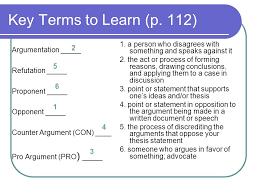 argumentative essay argumentation the aim of writing   argumentation  refutation  proponent  opponent