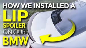 BMW F30 328 Lip <b>Spoiler</b> Install (SUPER EASY!) - YouTube